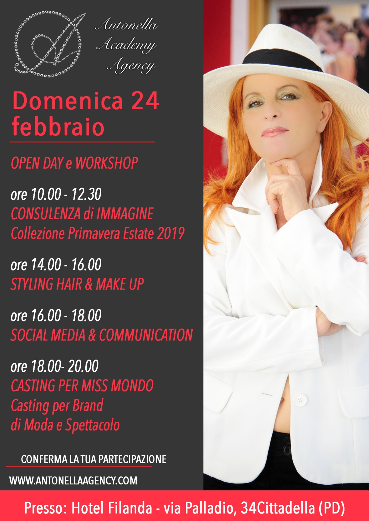 OPEN DAY, WORKSHOP e CASTING
